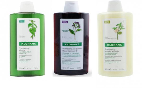 Klorane shampoings