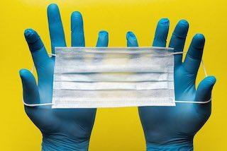 masque chirurgical covid gants