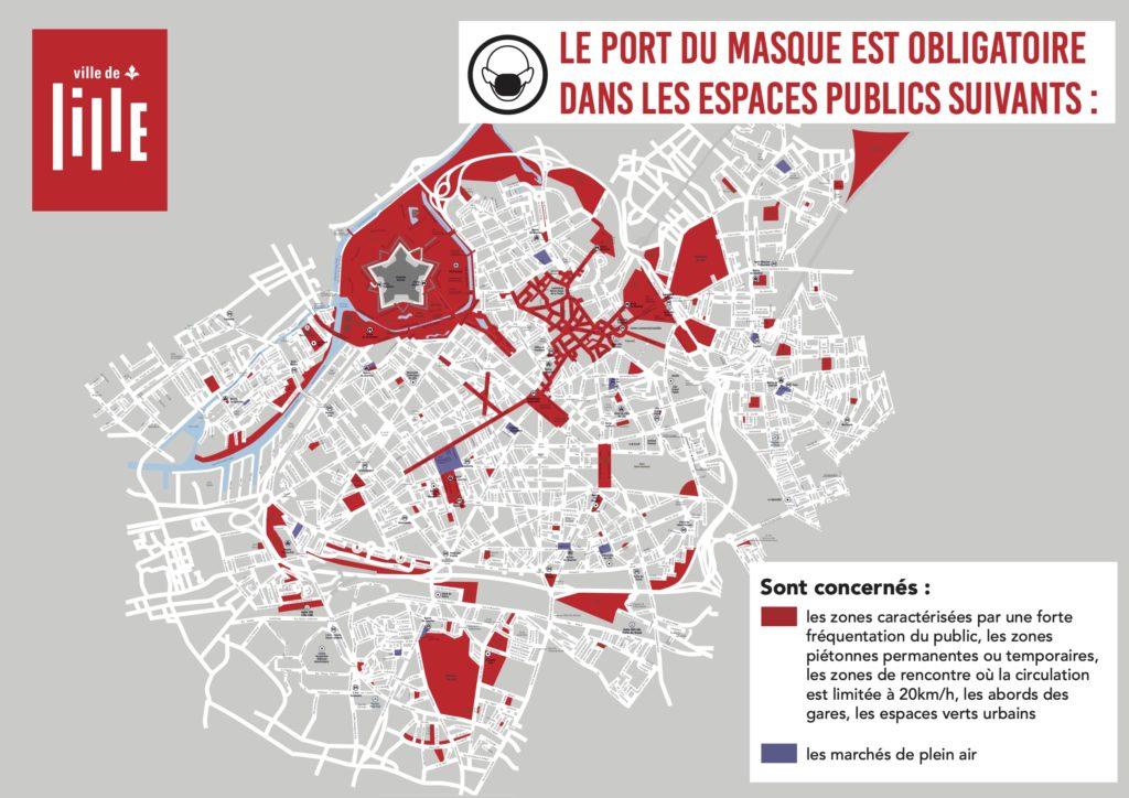 Zone port du masque Lille