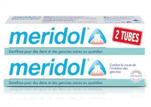 meridol lot 2 dentrifrice